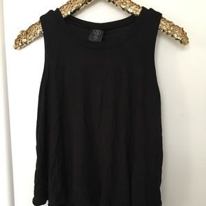 Solid black tiered tunic